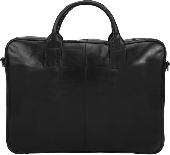 Nord Leather. Mac One laptop veske i kalveskinn 15 Sort