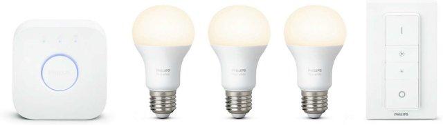 Philips Hue White Startpakke E27 3pk