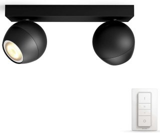 Philips Hue Buckram Dobbel Sort