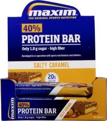 Maxim 40% Protein Bar Salty Caramel 18x50g