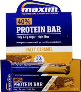 40% Protein Bar Salty Caramel 18x50g
