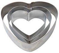 Pepperkakeform Hjerte 3 deler