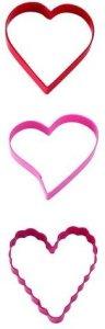 Kakeutstikkersett Valentine 3 deler