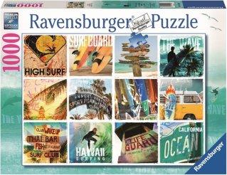 Ravensburger Puslespill 1000 Biter Surfin