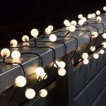 Minilyslenke med 80 LED-lys til utebruk,11,32 m
