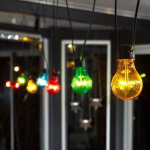 LED-lyslenke Fargede Pærer