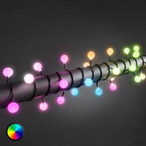RGB-LED-lyslenke med 80 lys til utebruk