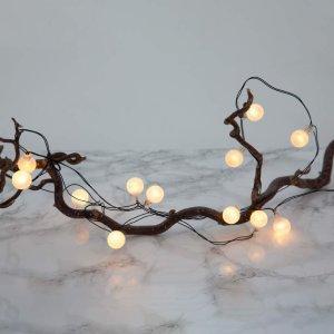 Globe Light LED-lyslenke med batteridrift