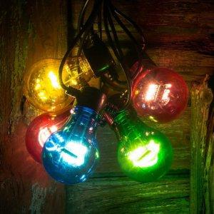Lyslenke med LED-LM Glødetrådeffekt Multifarget