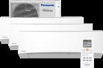 Panasonic CS-TZ25TKEW/CU-3Z52TBE Multisplit 3 innedeler