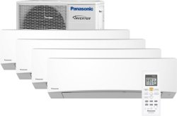 Panasonic CS-TZ25TKEW/CU-4Z68TBE Multisplit 4 innedeler
