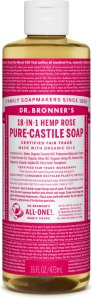 Dr.Bronner's Pure-Castile Liquid Soap Rose 472 ml