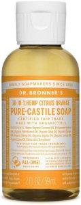 Dr.Bronner's Pure-Castile Liquid Soap Citrus Orange 59 ml
