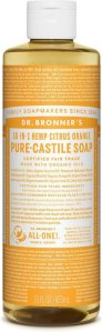 Dr.Bronner's Pure-Castile Liquid Soap Citrus Orange 472 ml