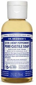 Dr.Bronner's Pure-Castile Liquid Soap Peppermint 59 ml