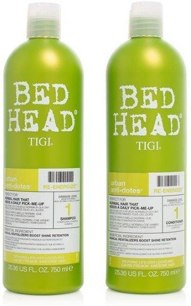 TIGI Bedhead Urban Antidotes Re-Energize Shampoo & Conditioner 2x750ml