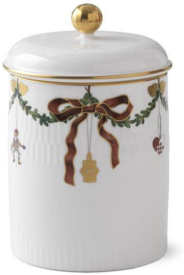Royal Copenhagen Stjerne Riflet Jul krukke med lokk 16cm