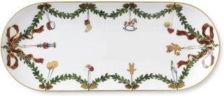Stjerne Riflet Jul ovalt fat 39cm