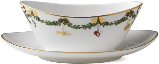 Royal Copenhagen Stjerne Riflet Jul sauseskål 43cl