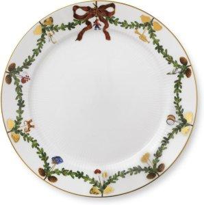 Stjerne Riflet Jul tallerken 27cm