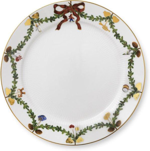 Royal Copenhagen Stjerne Riflet Jul tallerken 27cm