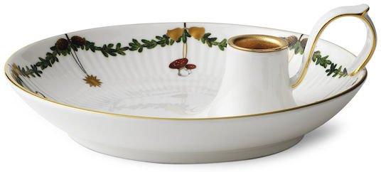 Royal Copenhagen Stjerne Riflet Jul lysestake