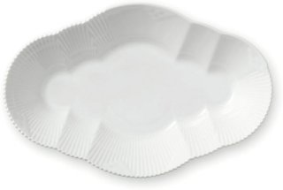 Royal Copenhagen White Elements ovalt fat 23cm