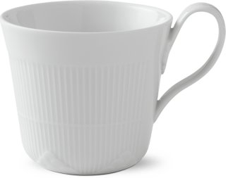 Royal Copenhagen White Elements kopp med hank 35cl