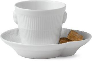 Royal Copenhagen White Elements espressokopp 10cl med skål