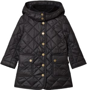 Ralph Lauren Black Long Line Quilted Barn