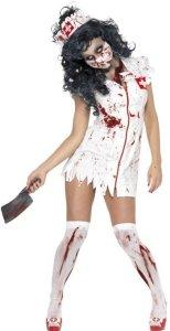 Zombie Sykepleier Kostyme