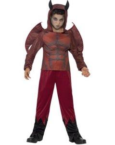Deluxe Djevel Kostyme med Horn