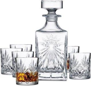 Lyngby Glas Melodia whiskysett 7 deler