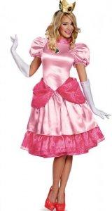 Peach Prinsesse Kostyme