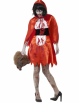 Zombie Halloween Rødhette Kostyme