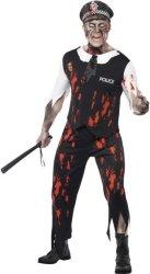 Zombie Halloween Politi Kostyme