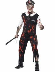 Zombie Politimann Kostyme