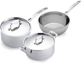 Scanpan Fusion 5 sett med kasserolle, gryte og sauteuse