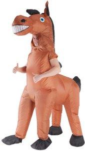 Gigantisk Hest Oppblåsbart Kostyme