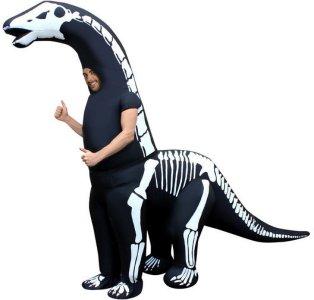 Oppblåsbart Diplodocusskjelett Kostyme