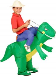Oppblåsbart Dinosaur-kostyme