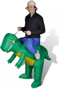 VidaXL Oppblåsbar Dinosaur Kostyme