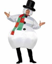 Oppblåsbar Snømann Kostyme