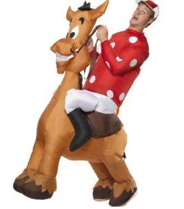 Oppblåsbar Jockey og Hest Kostyme