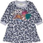 Kenzo Grey All Over Tiger Print Dress