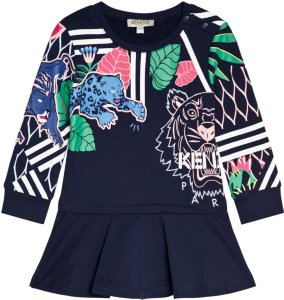 Kenzo Tiger and Friends All Over Sweat Dress
