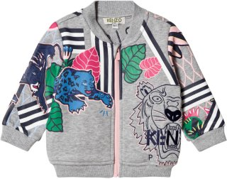 Kenzo Tiger and Logo Print Zip Jacket