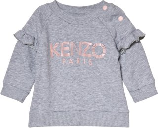 Kenzo Frill Sleeve Logo Sweatshirt