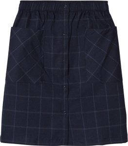 Tinycottons Grid Flannel Button-Down Skirt
