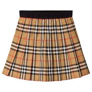 Burberry Antique Check Pleat Skirt
